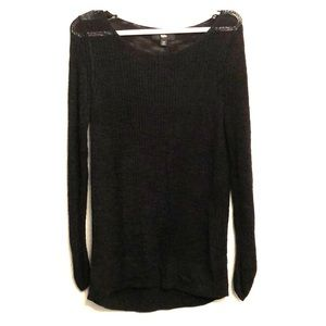 Black thin sweater dress